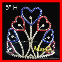 Coroa patriótica da tiara da paginação do coração