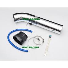 Tubo de entrada de ar de alumínio de 3 '' com suporte de redução de borracha e braçadeiras