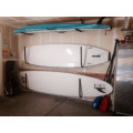 Steel frame surfboard storage rack