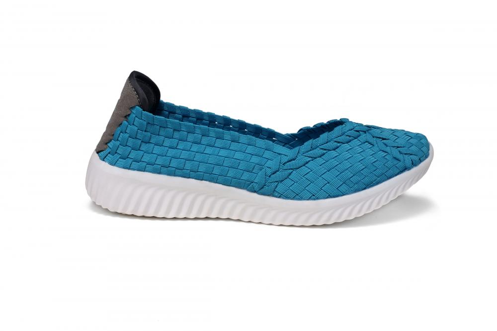 Lake Blue Woven Pumps