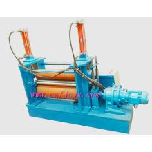 Dos rodillos de goma Rolling placa hidráulica de la máquina