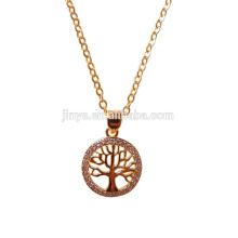 Collier d'arbre de vie plaqué or de mode, bijoux d'arbre de vie de yoga