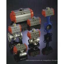 Actuador neumático de baja temperatura -40 ~ 80 grados de temperatura de trabajo
