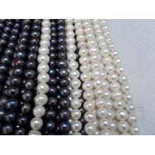 12-15mm Big Round Freshwater Pearls Strands
