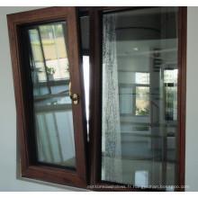 Fenêtre d'inclinaison et de rotation en aluminium à double vitrage