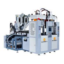Tr. Máquina de fabricación de suela de PVC dos estaciones dos colores