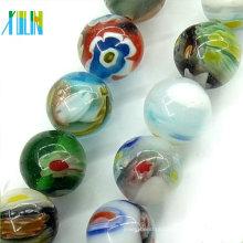 miçangas de vidro multi-coloridas millefiori grânulos redondos tensha
