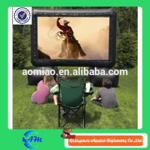 2015 nuevo diseño de publicidad pantalla inflable, pantalla de cine inflable