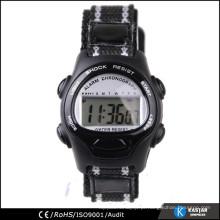 Confortável relógio nylone strap kid digital