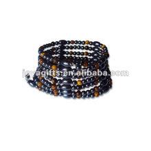 """Bracelet et collier en forme de perles de tigre magnétique 36 """""""