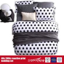 133 * 72 gedruckte schwarze weiße Bettwäsche für Hotel / Heimgebrauch