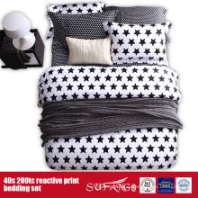 133*72 распечатанных черно белое постельное белье для гостиницы/домашнего использования