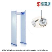 7 pulgadas de pantalla táctil anti interferencia al aire libre de seguridad impermeable detector de metales