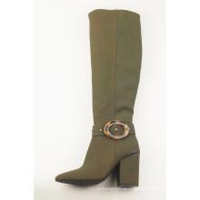 Ladies boots chunky high heels mid-calf half