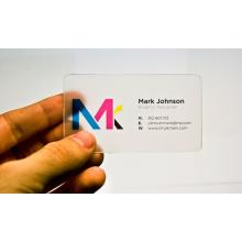 Kundenspezifische PVC-transparente Visitenkarte mit kundenspezifischem Druck