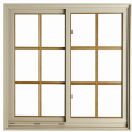 Aluminum Gliding Windows with Security Bar