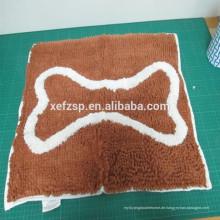 billiges Gewebe Wasserabsorbierende Polyester-Matten-Hundetatzen-Reinigungsmatte