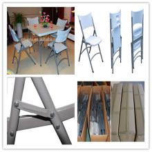 Nouvelle conception Hot Selling Plastic Chair / Vente en gros à bas prix Haute qualité Blow Mold HDPE Chair / Outdoor Picnic Camping Folding Chair (HQ-X53)