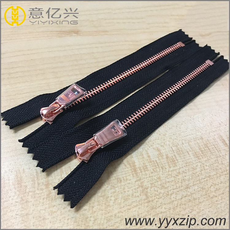 fancy custom metal zipper