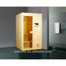 K-717 Spuare esquina de baño de vapor de madera, sala de sauna tradicional, sauna combinación de sala de vapor