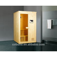 K-717 Spuare coin hammam en bois, salle de sauna traditionnelle, sauna hammam combinaison