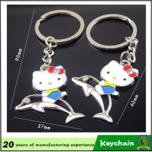 Corrente chave da vaquinha bonita de Hallo da promoção de vendas barata de Keychain dos pares para amantes