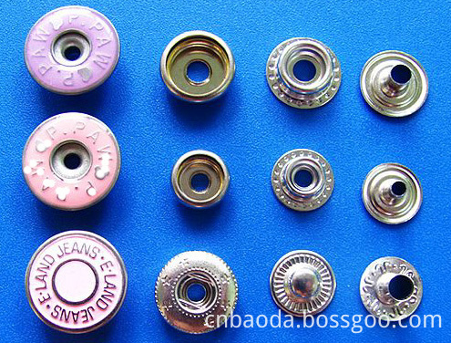 Fashion unique metal fasteners snap together buttons for clothing