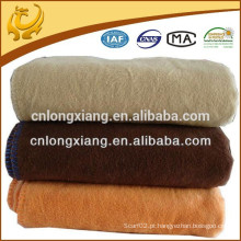 All Season Luxurious Big Size Weave Solid Color Blanket 100% Algodão Cobertor