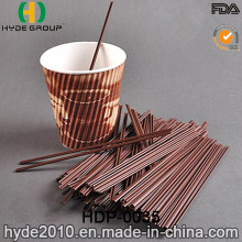 PP Plastic Stiring Stick Drinking Straw for Coffee (HDP-0035)