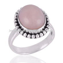 Pink Opal Gemstone 925 Sterling Silver Ring Jewelry