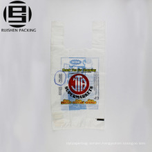 Recycle white film printed t-shirt packing bags