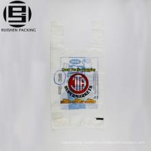 Рециркулирует белую пленку печатных T-рубашка мешки упаковки