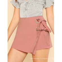Double Knot Front Overlap JupeManufacture Vente en gros Mode Femmes Vêtements (TA3101S)