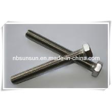 Perno de cabeza hexagonal de acero inoxidable DIN933