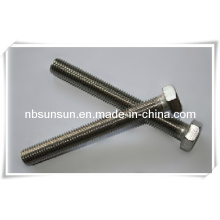 Parafuso de cabeça hexagonal em aço inoxidável DIN933