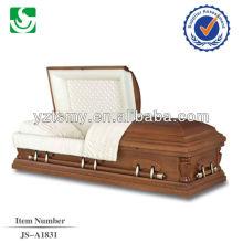 Américain semi gloss personnalisé peint cercueil décoré