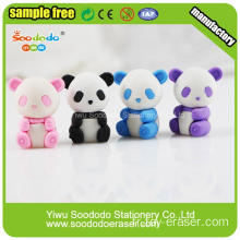White Black Cute Pande Eraser As Children's Gift
