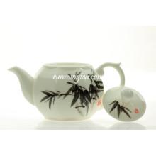 Pote de chá de cerâmica octogonal de bambu de 250ml