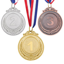 High Quality The Sports Meet Cheap Price Metal 3D Medals Sport Award Medal With Ribbon