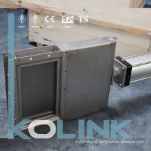 Válvula de guilhotina quadrada pneumática Válvula de portão de faca fabricada