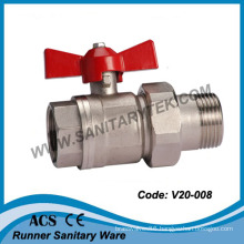 Full Flow Brass Ball Valve with Union Pipe (V20-008)