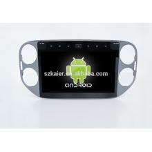 Fábrica directamente! Quad core! DVD del coche de Android 6.0 para el reproductor de DVD del coche de VW Tiguan con la pantalla capacitiva de 10 pulgadas + 360 grados