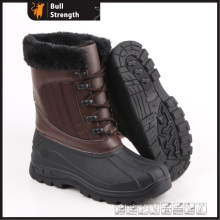 Women Winter Boots with PU Upper and PVC Sole (SN5229)