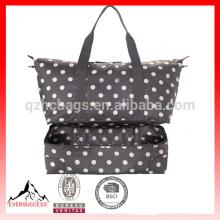 sac de voyage à deux étages escamotable de bouton de bouton, sac de plage de toile, sacs de durrel de toile HCBC0001