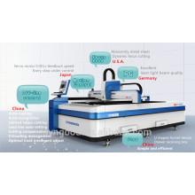 Sheet Metal Laser Cutting Machine 0.5-16mm thickness Open design 1500*3000mm