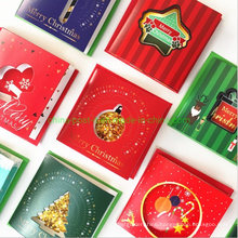 Threefold Christmas Hollowed-out Mini Gift Paper Card
