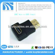 HDMI между мужчинами F / M 90-градусный разъем для подключения адаптера переходника