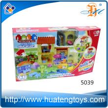 New design kids solid ABS plastic villa blocks toys for sale