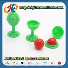 Funny Brain Teasers Plastic Magic Ball Toy para crianças