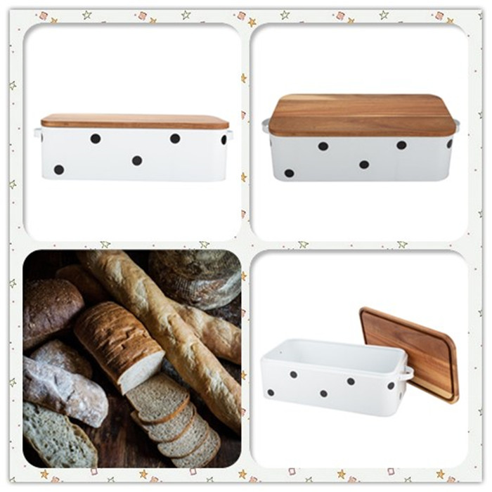 Kitchen Bread Box Set with Bamboo